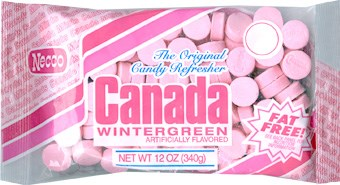 Necco Canada Mints - Wintergreen 12oz.