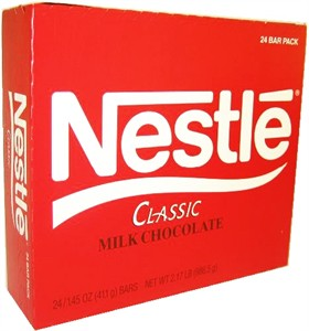 Nestle Milk Chocolate Bars 24ct.