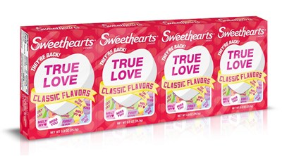 Necco Sweethearts Heart Candy English or Spanish 2 boxes