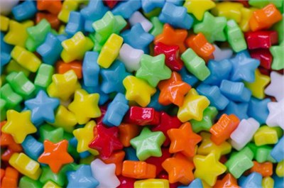 Neon Candy Stars 1lb