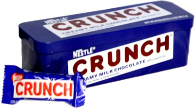 Nestle Crunch Bar Tin (discontinued)