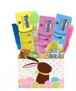 Cottontail Easter Bunny Candy Gift Basket