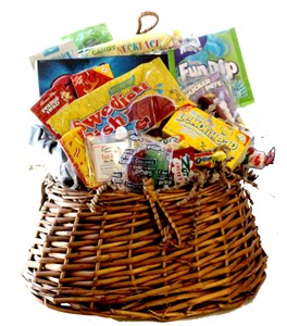 Fishing Creel Basket Filled with Nostalgic Candy Sweets (sold out)