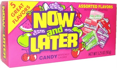 Now & Later Assorted Flavors Theater Size Boxes 12ct. (DISCONTINUED)
