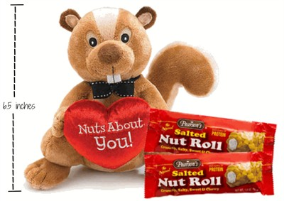 Nuts About You Plush Squirrel with Salted Nut Rolls