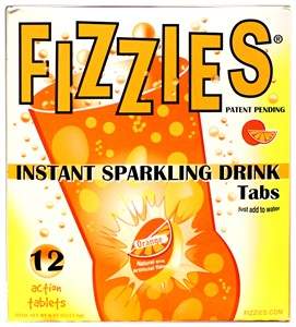 Fizzies Candy Drink - 12 Candy Soda Tablets - Orange