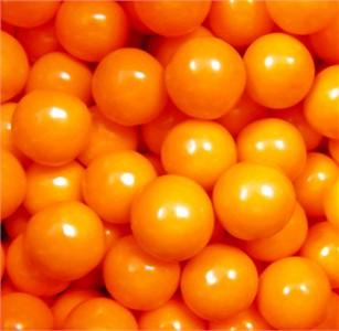 Orange 1-Inch Bulk Gumballs Large 5LB
