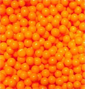 Orange Sugar Candy Beads 5LB (Discontinued)