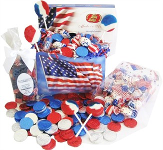Patriotic Red, White & Blue Candy Basket (DISCONTINUED)