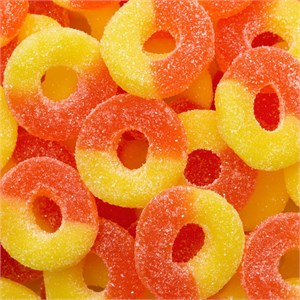 Gummy Rings - Peach 4.5LB