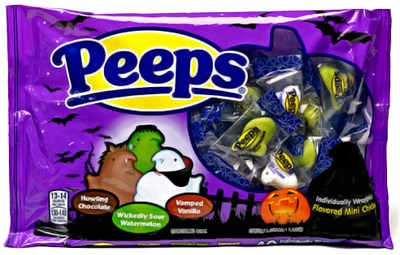 Peeps Halloween Snack Size Mini Marshmallow Chicks 34ct.(sold out)