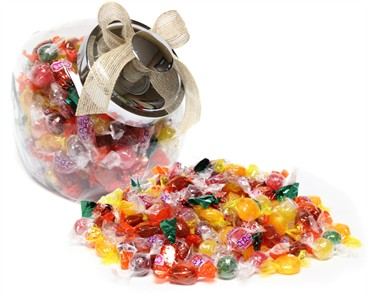 Penny Hard Candy Glass Jar