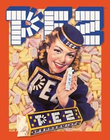 Pez Girl Tin Sign (SOLD OUT)