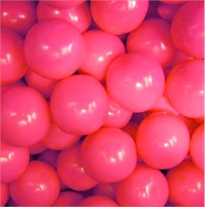 Pink Bulk Gumballs 1-Inch Large 2LB
