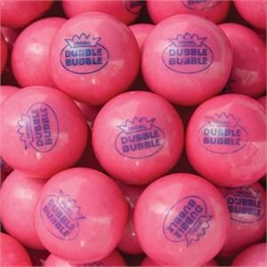 Pink Original Dubble Bubble 1-Inch Gumballs 5LB