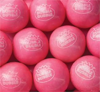 Pink Lemonade Dubble Bubble 1-Inch Gumballs 5LB