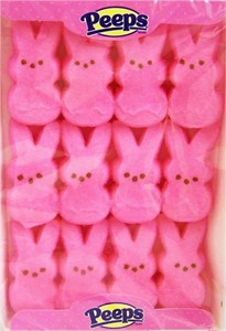 Marshmallow Peeps Pink Easter Bunnies 12ct