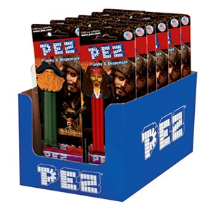 Pirates of the Carribean PEZ Dispensers 12ct. (DISCONTINUED)