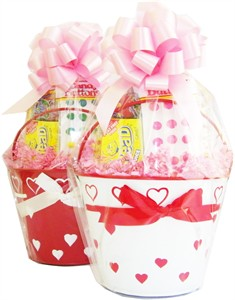 Valentine Heart Tin Pail Candy Basket (DISCONTINUED)