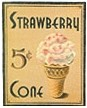 Strawberry Cone 5 Cents Tin Sign(Discontinued)