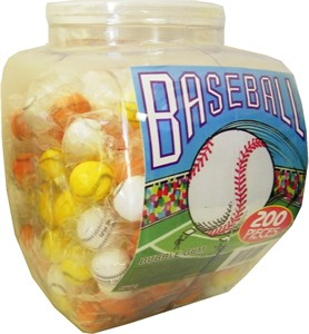 Playball Baseball Gum Balls 200ct (DISCONTINUED)