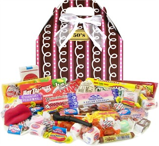 1950's Sprinkled Pink Retro Candy Gift Box