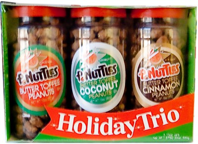 P-Nuttles Butter Toffee Peanuts Holiday Trio Jars (Sold Out)