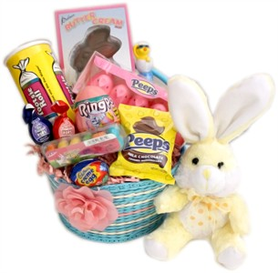 Pink and Blue Easter Bunny Basket (DISCONTINUED)