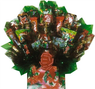 Poinsettia Box Candy Bouquet (sold out)