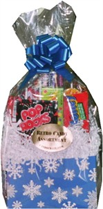 SNOW FLAKE RETRO CANDY GIFT BASKET (discontinued)
