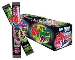 Pop Rocks Xtreme Sour Apple & Sour Berry 48ct.