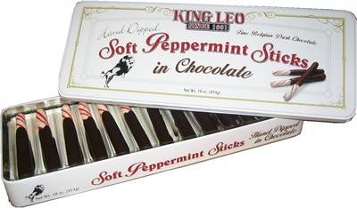 King Leo Chocolate Dipped Soft Peppermint Sticks 16oz. (DISCONTINUED)