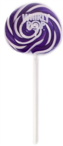 Purple & White Whirly Pop 1.5 oz. - 3 inch