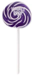 Purple & White Whirly Pop 1.5oz - 3 inch 12ct