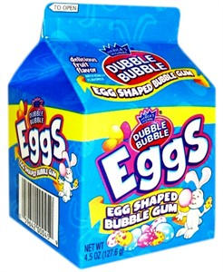 Dubble Bubble Gum Eggs Carton 4oz (Coming Soon)