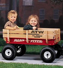 RADIO FLYER ALL TERRAIN STEEL & WOOD WAGON (Sold Out)