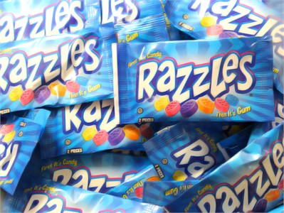 Razzles Mini Candy Gum 5LB