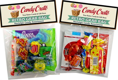<strong>Retro Candy Grab Bag Favors </strong>