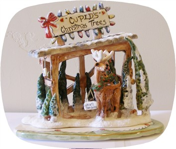 Reindeerville Cupid's Tree Lot Tealight Holder(sold out)