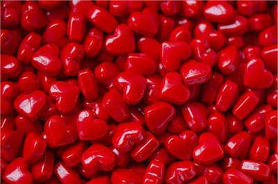 Red Cinnamon Hearts 1LB
