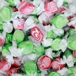 Red & Green Holiday Swirl Salt Water Taffy