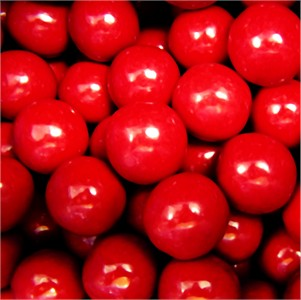 Red Gumballs 1-Inch Large 5LB