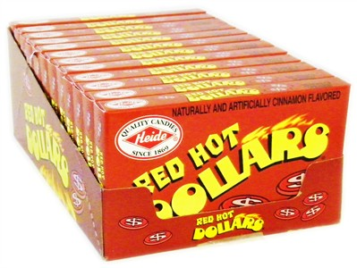 Red Hot Dollars Theatre Size Boxes 12ct. (DISCONTINUED)