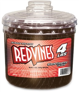 Red Vines Black Licorice Twists Tub 240ct.