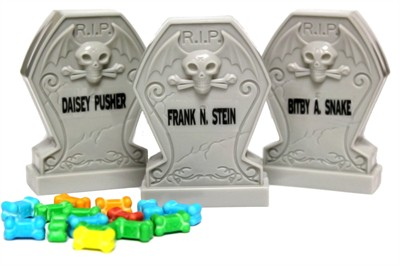 Rest In Pieces of Candy Bones Tombstones 3ct.