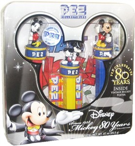 Disney 80 Years of Mickey History Collectible PEZ Tin (sold out)