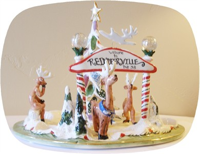 Reindeerville Welcome Tealight Holder [sold out]