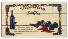 Riesling Wine w/ Milk Choc. Truffles Gift Box 12ct. (Sold Out)
