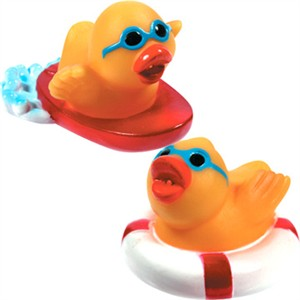 RUBBER DUCKIES MINI WATER SPORTS PAIR (discontinued)