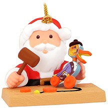 Santa & Dr. Duck Christmas Tree Ornament (sold out)